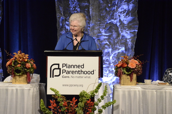 Sarah Giving a Speech for Planned Parenthood